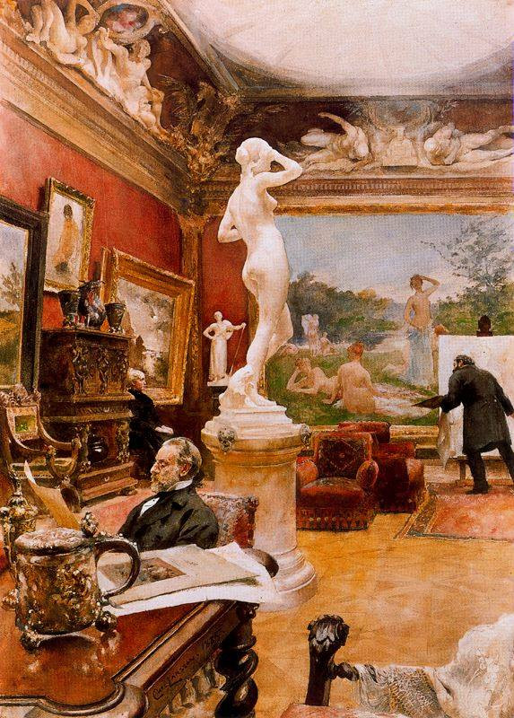Interior of the gallery Furstengerg in Gooteborg 1885